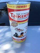 Vintage 2006 Tinkertoy Jumbo Builder Construction Set Wood Pieces 87/102