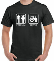 Tractor Mens Funny T-Shirt  Farming Farmer Farm Problem Solved Top