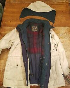 Pacific Trail Size 1X Tan Winter Jacket Coat w/ Flannel Lining Detachable Hood