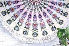 Indian Round Mandala Tapestry Wall Hanging Beach Throw hippy Yoga Mat Rug Decor