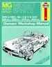 MG Midget Austin Healey Sprite 1958-1980 Haynes Workshop Manual Service Repair