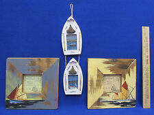 Twos Company Nautical Photo Frames Square Weathered Distressed Lot of 2
