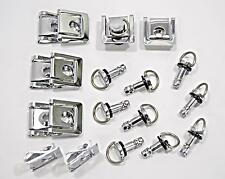 10 Dzus Style Motorcycle Quick Release 1/4 Turn Fairing Fasteners with 17mm Pins