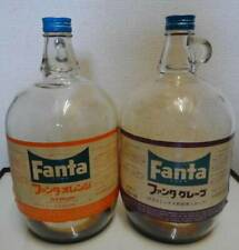 Vintage 1960's Coca-Cola Fanta Orange Grape Undiluted Gallon Bottle Showa Retro