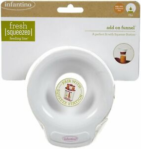 New Infantino Add-on Funnel for Squeeze Station Feeding Line Puree Baby Food
