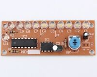 DIY Kit NE555+CD4017 White 10+1pc LED Light Water Electronic Suite Circuit Board