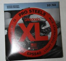 D'ADDARIO XL Jeu Cordes Guitare Electrique Pro Steels 10/52 EPS540