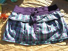 Lululemon 8 Personal Best Skirt Lolo Purple Turquoise Plaid EUC! Rare!