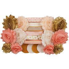 Peach Delight - Mini DIY Flower Headband Kit - Baby Shower Station - Birthday