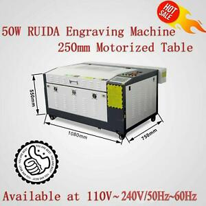 RUIDA 50W Co2 Laser Cutter and Engraver Machine 24''x16'  Motorized Platform