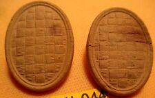 Very Rare Tan 1800's DURANOID Oval Design Bridle Rosettes BOB MACLIN Collection