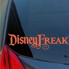 Disney Freak vinyl sticker decal fan fanatic loyal movie park pin character walt