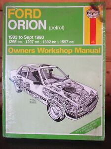 1009 Haynes Manual Ford Orion 1296cc 1297cc 1392cc 1597cc 1983-9/1990