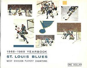 1968-69 St. Louis Blues Yearbook 2nd Season Western Champs BEAUTY!!