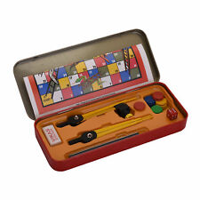 Student Geometry Box With Ludo Card Mathmatics Drawing Instruments Geometry Box