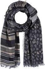 weicher Schal Patchlook grau schwarz PASSIGATTI NEU Baumwolle und Wolle