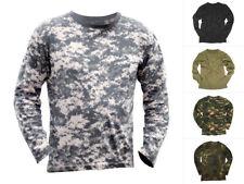Mil-Tec Langarmshirt Baumwolle S-3XL Camouflage T-Shirt Longsleeve Rundhals