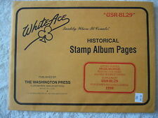 "1998 WHITE ACE STAMP ALBUM SUPPLEMENT "" USR-BL29 "" USA REGULAR ISSUE BLOCKS"