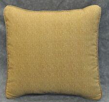 "Pillow made w Ralph Lauren Northern Cape Brown Raffia Fabric 16"" cording"