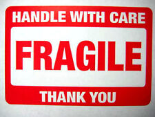 500 2 x 3 Fragile Handle with Care Label Sticker.Includes 10 pink smiley labels