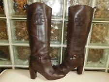 Tory Burch Blaire Brown Leather Knee High Heel Riding Boots Size 10 M