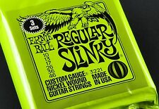 3 pack of Ernie Ball Regular Slinky 10-46 3221 2221 Electric Guitar Strings