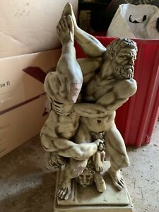 Vintage Ruggeri Greek Mythology Hercules Diomedes Naked Phallus Statue