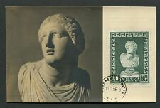 Polonia MK 1956 Museo BUST Niobe Greece Mythology carte MAXIMUM CARD MC cm d6011