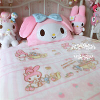 Japan Kawaii Bowknot My Melody Kitty Face Pillow Case Cover Girl Kid Bedroom New