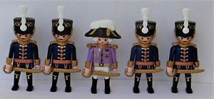 Playmobil    5 x Assorted Blue Hussars Officers/Soldiers   Good Condition