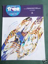 FREE- ROCK BAND -  MAGAZINE CLIPPING / CUTTING- 1 PAGE ADVERT