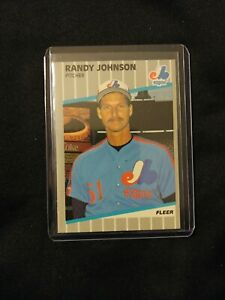 1989 FLEER RANDY JOHNSON RC FACTORY SEALED SET BREAK NM-MT PSA