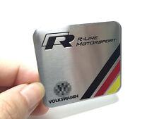 1Pcs Aluminum Luxury Auto Body Trunk Lid Sticker Badge Emblems For VW R-Line