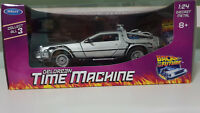 1:24 Scale Back To The Future DELOREAN Time Machine Diecast Car Model NEW IN BOX
