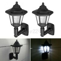 4x Outdoor Garden LED Solar Power Path Wall Light Lawn Landscape Security Lamp