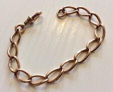 Beautiful Ladies Antique 1904 Superb Solid 9 Carat Rose Gold Albert Bracelet
