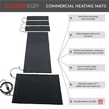 Summerstep Heated Snow Melting Walkway Mat Wm36x60C 3 ft W x 5 ft L Connectable