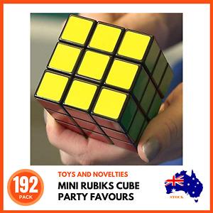 192 x MINI RUBIKS PUZZLE CUBES Party Favours Children's Puzzles Educational Toys