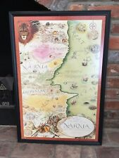 Narnia Map, dry-mounted and framed, 1.5' x 2.5'