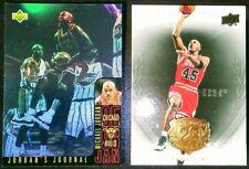 Michael Jordan 1996 UD Holoview International SP Insert + UD Legacy Gold Lot