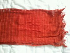 OCCASIONE: sciarpa pashmina cotone arancio HAND MADE ORANGE COTTON SCARF