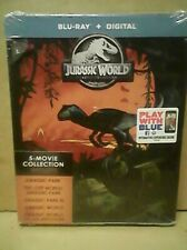 JURASSIC WORLD - PARK 5 MOVIE COLLECTION STEELBOOK BLU-RAY + DIGITAL Brand New