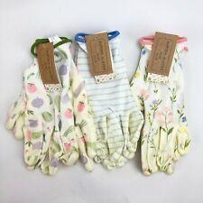 3 Pack Small Garden Gardener Gardening Gloves Yard Nitrile Knit Wrist NWT