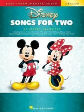Disney Songs for Two Cellos Easy Instrumental Duets 2 Cellos  Book Only HL002846