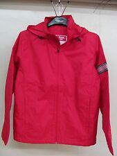 Men's Team 365 Large Red Hooded Polyester Fleece Water Resistant Zip Jacket TT78
