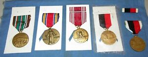 WW2 Original Vintage Medals Victory Good Conduct Army Of Occupation European Cam