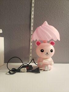 Kawaii Teddy Bear Night Lamp Cute Pink