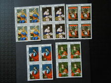 G301    LUXEMBOURG  1978  CARITAS BLOCKS OF 4   MNH