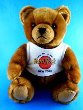 "Vintage 10"" sitting herrington Hard Rock Cafe New York Teddy Bear Plush 2003"