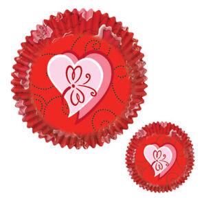 Wilton 75pk Sweetheart Valentine Bandana Heart Cupcake Muffin Baking Cup Cases
